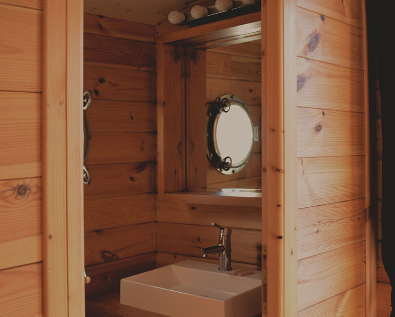 Salle de bain toue cabanée